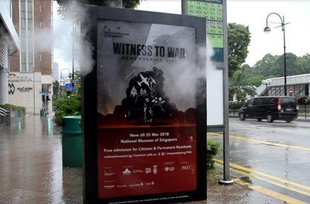 National Heritage Board attempts first ever smoke-effect ad in Singapore with OOH