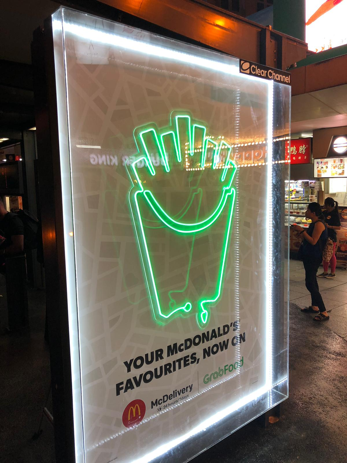 McDonald's flaunts partnership with GrabFood with OOH campaign