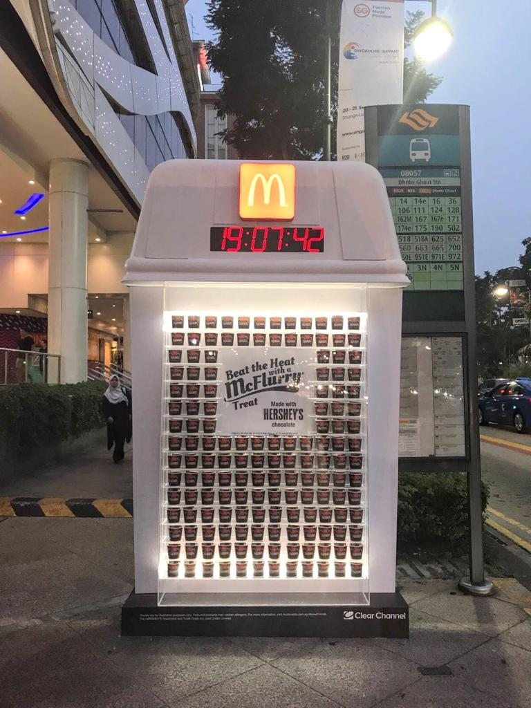 McDonald's Singapore goes OOH in their latest launch Hershey's McFlurry.